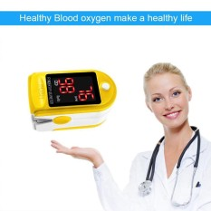leegoal Finger Pulse Oximeter, Blood Oxygen Saturation Monitor,Fingertip SPO2 Sensor,Large LED Display, Alarm Function, With Lanyard - intl