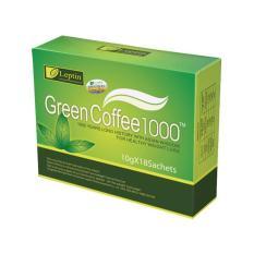 Toko Leptin Green Coffee 1000 Suplemen Diet Organik Pelangsing Original 1 Box Isi 18 Sachets Online