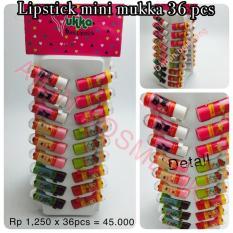 Review Toko Lipstick Mini Mukka Isi 36 Pcs