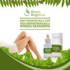 Jual Liquid Perontok Bulu Permanen Sekali Usap Langsung Rontok Penghilang Bulu Aman Hair Removal Green Angelica Satu Set
