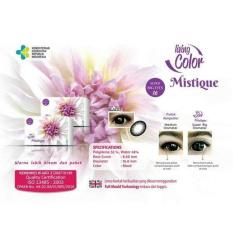 Living Color Mistique Softlens - Warna Black + FREE Lenscase