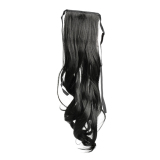 Diskon Long Curly G*rl Big Wavy Ponytail Wigs Pony Hair Hairpiece Extension Black Branded