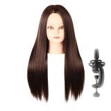 Penawaran Istimewa Lurus And Panjang Sisi Belahan Rambut Wig With Berdiri Manekin Tata Penataan Desain Dalam Coklat Terbaru