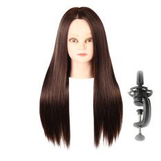 Toko Lurus And Panjang Sisi Belahan Rambut Wig With Berdiri Manekin Tata Penataan Desain Dalam Coklat Terlengkap