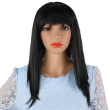 Harga Lurus And Panjang Cosplay Wig Fancy Dress Hitam Oem Baru