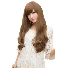 Spek Long Wavy Hair Wig Blonde Hong Kong Sar Tiongkok