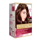 Dimana Beli L Oreal Excellence Hair Color Iridescent Mahogany Brown 4 25 Excellence