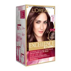 Loreal Excellence Hair Color Coklat Tua 4.20