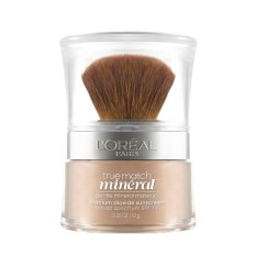 L'Oreal Paris True Match Mineral Foundation - Nude Beige by L'Oreal Paris Makeup   Loreal Foundation  Powder High Coverage Safe For Sensitive Skin / Kulit Sensitif Long Lasting Light Weight Tahan Lama Ringan