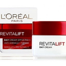 Jual L Oreal Paris Revitalift Day Cream Spf 23 Anti Wrinkle Firming Dermalift Proretinol A 50 Ml Original L Oreal Paris Branded