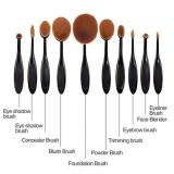 Penawaran Istimewa Lucky 1Set 10 Buah Kuas Oval Profesional Kuas Makeup Kabuki Brush Set Multipurpose Beauty Tools Terbaru