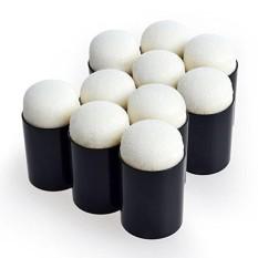 Lucky-G 10 Pcs Finger Sponge Daubers Set untuk Lukisan Menggambar Tinta Kerajinan Kapur-Intl