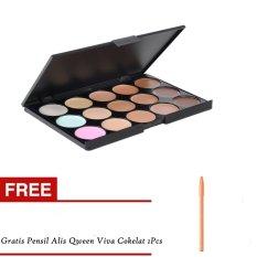 Harga M N Contour Cream Series 15 Colors Camouflage Concealer Palette Dan Pensil Alis Viva Coklat 1Pcs Baru Murah