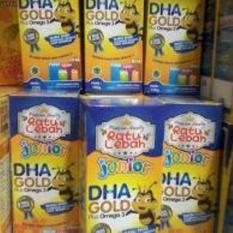 Jual Madu Ratu Lebah Junior Dha Gold Plus Omega 3 Isi 4 Botol Branded Original