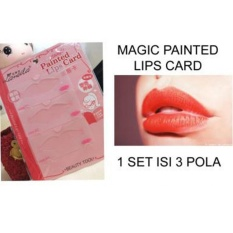 Magic Painted Lips Card - Cetakan Bibir -Pencetak Bibir By Gogo Shop.