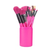 Ongkos Kirim Magicworldmall Beauty Ready Stock 12Pcs Bottled Blusher Foundation Long Makeup Brush Cosmetic Make Up Tools Intl Di Tiongkok