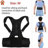 Magnetic Back Shoulder Lumbar Support Posture Correction Belt M Intl Murah