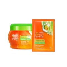 Toko Jual Makarizo Hair Energy Fibertherapy Hair Scalp Cream With Aloe Melon Extract 500G Hair Mask