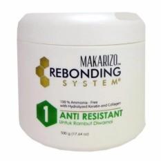 Makarizo Rebonding System Anti Resistant Untuk Rambut Diwarnai - 500gr
