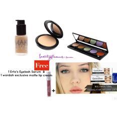 Make Over Liquid matte Foundation ,Camouflage Cream,Two way cake FREE Lip Cream & Erto's Eyelash Serum