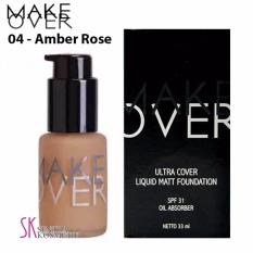 Make Over Ultra Cover Liquid Matt Foundation 04 Amber Rose Make Over Diskon