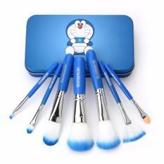 Review Make Up Brush 7 Pc Doraemon Kuas Makeup Professional Foundation Lip Eyeshadow Shader Brush Metal Box Biru No Brand