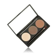 Kualitas Makeup 3 Warna Alis Mata Kacamata Concealer Dengan Cermin Alis Mata Intl Not Specified