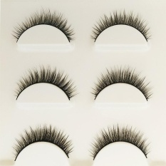 Dapatkan Segera Makeup 3D Natural Long Fake Eyelashes Handmade Tebal Bulu Mata Palsu Hitam