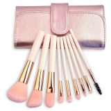 Spek Makeup Brushes Set Professional Synthetic Kabuki Cosmetic Brushes Kit With Foldable Bag 9 Pcs Intl Oem