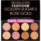 Jual Makeup Revolution Golden Sugar 2 Rose Gold Ultra Professional Blush Palette With Packaging Makeup Revolution Ori