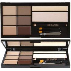 Promo Toko Makeup Revolution Ultra Brow Palettes Fair To Medium