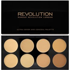 Cuci Gudang Makeup Revolution Ultra Cover And Conceal Palette Light Medium