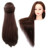 Toko Mannequin Manikin Training Head With Synthetic Fiber Long Hair Table Clamp Holder For Cosmetology Student Hairdressing Cutting Braiding Practice Maroon Intl Lengkap Tiongkok
