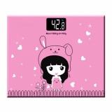 Cara Beli Marlow Jean Timbangan Badan Mini Digital Desain Kartun Putri Max 180Kg Pink