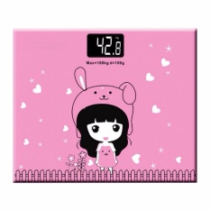 Beli Marlow Jean Timbangan Badan Mini Digital Desain Kartun Putri Max 180Kg Pink Cicil