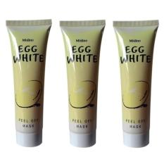Harga Hemat Mask Egg White Peel Off Masker Putih Telur 10 Pcs