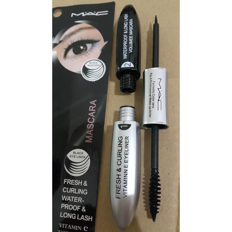 Detail Gambar Maskara & Eyeliner 2 in 1 - Mascara dan Eyeliner 2in1 M.A.C Waterproof - Black Terbaru