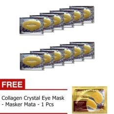 Masker Bibir - Collagen Lip Mask - 10 Pcs + Gratis Masker Mata - 1 Pcs