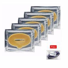 Masker Bibir - Collagen Lip Mask - 5 Pcs + Free Polkadope Ikat Rambut - 1