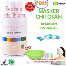 Spesifikasi Masker Chitosan Tiens Herbal Anti Jerawat Paket 100 Kapsul Dan Harganya