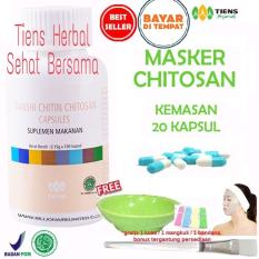 Promo Masker Chitosan Tiens Herbal Anti Jerawat Paket 20 Kapsul