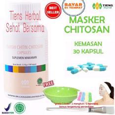 Jual Masker Chitosan Tiens Herbal Anti Jerawat Paket 30 Kapsul Jawa Timur Murah