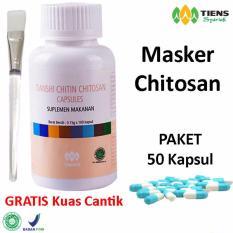 Spesifikasi Tiens Masker Wajah Chitosan Anti Jerawat Dan Berminyak Kemasan 50 Kapsul Free Kuas Cantik Member Card Hmc Dan Harganya