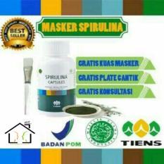 Jual Masker Herbal Spirulina Tiens 100 Kapsul Free Kuas Plate Import