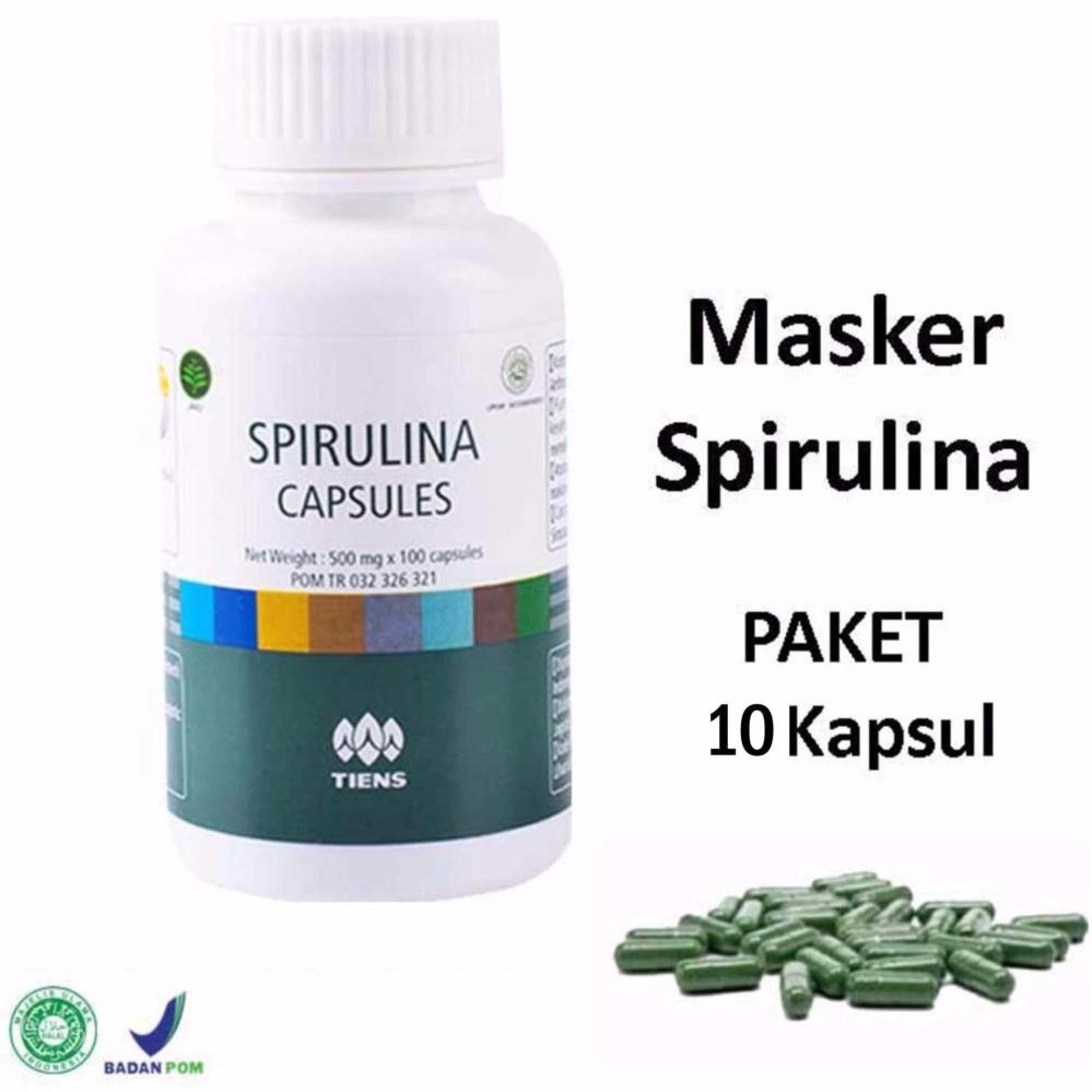 Produk Terlaris Rorec Masker Wajah Alami Madu Toko Online Aman Herbal Spirulina Tiens Paket 10 Kapsul