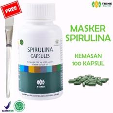 Spesifikasi Masker Spirulina Herbal Tiens Kemasan Full 100 Kapsul Gratis Kuas Tiens Terbaru