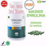Masker Spirulina Tiens Herbal Pemutih Wajah Isi 10 Kapsul Murah
