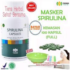 Beli Masker Spirulina Tiens Herbal Pemutih Wajah Paket 100 Kapsul Murah