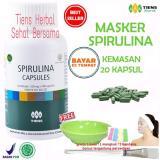 Jual Masker Spirulina Tiens Herbal Pemutih Wajah Paket 20 Kapsul Gratis Kuas