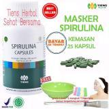Beli Barang Masker Spirulina Tiens Herbal Pemutih Wajah Paket 25 Kapsul Online